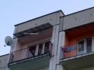Daszk balkonowy podparty